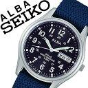 【延長保証対象】セイコー アルバ 腕時計[ SEIKO ALBA 時計 ]セイコーアルバ[ SEIKOALBA ]アルバ時計/アルバ腕時計/メンズ/ブルー AEFD556 [ナイロン ベルト/正規品/防水/ソーラー/シルバー/ネイビー/シンプル]