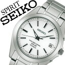 【5年保証対象】セイコー腕時計 SEIKO時計 SEIKO 腕時計 セイコー 時計 スピリット SPIRIT メンズ ホワイト SBTM213 メタル ベルト 正規品 防水 ソーラー 電波 シルバー チタン モデル プレゼント ギフト 送料無料