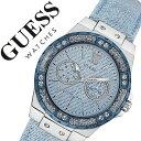 【5年保証対象】ゲス 腕時計[ GUESS 腕時計 ]ゲス 時計[ GUESS 時計 ]ゲス腕時計[ GUESS腕時計 ]ゲス時計[ GUESS時計 ]ライムライト LIMELIGHT レディース/ブルー W0775L1 [革 ベルト/正規品/カジュアル/デニム/防水/シルバー/新作/人気/ブランド][送料無料] 02P01Oct16