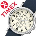 【5年保証対象】タイメックス 腕時計[ TIMEX 時計 ]タイメックス 時計[ TIMEX 腕時計 ]ウィークエンダー クロノ Weekender Chrono 40mm メンズ/ホワイト TW2P62100 [正規品/人気/ブランド/革 ベルト/ファッションウォッチ/ブルー/ネイビー/アイボリー/シルバー][送料無料]
