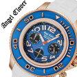 【5年保証対象】エンジェルクローバー 腕時計[ AngelClover 時計 ]エンジェル クローバー 時計[ Angel Clover 腕時計 ]シークルーズ SEA CRUISE メンズ/ブルー SC47PNV-WH [新作/防水/アナログ/クロノグラフ/ラバー ベルト/ブルー/ゴールド/プレゼント][送料無料]