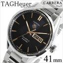 タグホイヤー 腕時計[ TAGHeuer 時計 ]タグ ホイヤー 時計[ TAG Heuer 腕時計 ]カレラ キャリバー5 Carrera Calibre 5 メンズ/ブラック WAR201C-BA0723 [ブランド/プレゼント/ギフト/メタル ベルト/タグ・ホイヤー/機械式/自動巻/メカニカル/スイス/シルバー][送料無料]