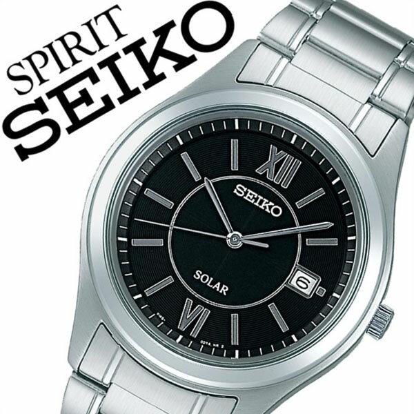 【5年保証対象】セイコー スピリット 腕時計[ SEIKO SPIRIT 時計 ]セイコースピリット 時計[ SEIKOSPIRIT 腕時計 ]セイコー スピリット時計[ SEIKO SPIRIT時計 ]メンズ/ブラック SBPN061 [スピリッツ/メタル ベルト/ソーラー/シルバー][送料無料] 【当店は日本時計輸入協会が定めたウォッチコーディネーター在籍店です】【各種プレゼント・ギフト・名入れも承ります】[母の日][父の日][結納][結納返し][結婚祝い]