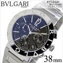 ブルガリ 腕時計 BVLGARI 時計 ブルガリ 時計 BVLGARI 腕時計 メンズ ブラック BB38BSSDCH blugari メタル ベルト クロノグラフ 機械式 自動巻 メカニカル オートマチック スイス シルバー ブルー 人気 高級 ブランド 送料無料