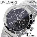 ブルガリ 腕時計 BVLGARI 時計 ブルガリ 時計 BVLGARI 腕時計 メンズ ブラック BB42BSSDCH blugari メタル ベルト クロノグラフ 機械式 自動巻 メカニカル オートマチック スイス シルバー 人気 高級 ブランド 送料無料