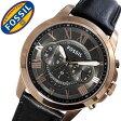 フォッシル 時計 [ FOSSIL 時計 ] フォッシル 腕時計 [ FOSSIL 腕時計] フォッシル時計 [ FOSSIL時計 ] フォッシル腕時計 [ FOSSIL腕時計 ]グラント GRANT メンズ/ブラック FS5085 [新作/人気/流行/ブランド/レザー ベルト/革/ピンクゴールド/プレゼント/ギフト][送料無料]