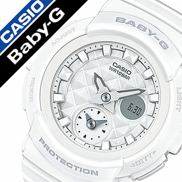【延長保証対象】カシオ 腕時計[CASIO 時計]カシオ 時計[CASIO 腕時計] ベビージー BABY-G レディース/ホワイト CASIO-BGA-195-7AJF [正規品/ベビーG/人気/かわいい/女子/カジュアル/アウトドア/ウレタン ラバー ベルト/バンド/ホワイト/ホワイト][送料無料][入学/卒業/祝い] CASIO時計 カシオ腕時計 CASIO 腕時計 カシオ 時計 ベビージー BABY-G