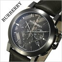 バーバリー 時計[BURBERRY 腕時計]バーバリー ロンドン 腕時計[BURBERRY LONDON 時計] シティ The City メンズ/グレー BU9364 [おすすめ/ブランド/プレゼント/ギフト/おしゃれ/オシャレ/レザー ベルト/革/クロノグラフ][送料無料]