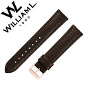 ウィリアムエル 時計ベルト William L 1985 ウィリアム エル 時計 ベルト William L 1985 腕時計 ストラップ ウイリアムエル メンズ レディース WLSBMIPRG20 時計用 バンド 替えベルト 交換ベルト ベルト レザー ベルト 革 ブランド ローズゴールド