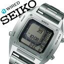 【5年保証対象】セイコー ワイアード デジボーグ BEAMSプロデュース 時計 SEIKO 腕時計 WIRED メンズ グレー AGAM401[新作/人気/正規品/ブランド/防水/デジタル/ワイヤード/メタル/シルバー][送料無料]