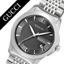 グッチ 腕時計[GUCCI 時計]グッチ 時計[GUCCI 腕時計]Gタイムレス G Timeless メンズ/ブラック YA126402 [人気/ブランド/防水/高級/プレゼント/ギフト/メタル ベルト/シルバー]