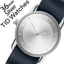 【5年保証対象】ティッドウォッチ 腕時計[TIDWatches 時計]ティッド ウォッチ 時計[TID Watches 腕時計]レディース/シルバー SET-TID02-SV36-NV[人気/ブランド/革/レザーベルト/北欧/シンプル/レディース/ネイビー][送料無料]