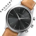 クロナビー 腕時計 KRONABY 時計 クロナビー 時計 KRONABY 腕時計 セイケル SEKEL メンズ A1000-3123 ブラック レザー 革 北欧 スマー..