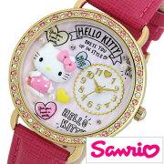 サンリオ ハローキティ 日本製 時計 Sanrio Hello Kitty 腕時計 レディース キッズ ウォッチ ホワイト MJSR-M13[アナログ かわいい おしゃれ 人気 女性 子供 ジュニアサイズ 男の子 女の子 キャラクター 誕生日 入学 卒業 祝い プレゼント ギフト小学生 中学生 高校生]