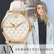 【女性向け当店一番人気商品!】アルマーニエクスチェンジ 腕時計[ ArmaniExchange 時計 ]アルマーニ エクスチェンジ 時計[ Armani Exchange 腕時計 ]レディース/ホワイト [AX/A|X/人気/ブランド/革 ベルト/かわいい/ローズゴールド/ピンクゴールド/ピンク][送料無料]