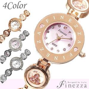 [ 腕時計 レディース かわいい プチプラ/ブレスレット/バングル ]フィネッツァ腕時計 Finezza時計 Finezza 腕時計 フィネッツァ 時計 レディース/ピンク FZ3011-PGPK[かわいい おしゃれ アクセサリー キラキラ 天然ダイヤ ストーン ピンクゴールド][送料無料]