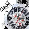 ガガミラノ [ GaGaMILANO ] ガガミラノ 時計 [ GaGaMILANO 時計 ] ガガ ミラノ [ GaGa MILANO ] ガガミラノ 腕時計 [ GaGaMILANO腕時計 ] ガガ時計 [ GaGa時計 ]クロノ 48MM アッチャイオ[CHRONO 48MM ACCIAIO]/メンズ/レディース/GG-6050.7[新作/希少品/革ベルト][送料無料]