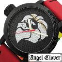 エンジェルクローバー腕時計 AngelClover (エンジェルクローバー 時計 AngelClover 腕時計 )レフトクラウンNESTA BRANDコラボモデル メンズ時計LC45BBNS レザー ベルト バンド ジルコニア ブラック レッド 黒 赤 バーゲン プレゼント ギフト