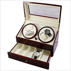 ワインディングマシーン[自動巻き機][ワインディングマシン]腕時計/時計ワインディングマシン/マシーン自動巻き上げ機ウォッチワインダー/ウォッチワインダー[ワインダー]時計ケース腕時計ケース腕時計ケース収納/1本/2本/4本[自動巻き/機械式/木製][送料無料]