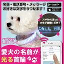光る 首輪 LED ペット 犬用 リード ハーネス 散歩 ペット用品  LED BAND