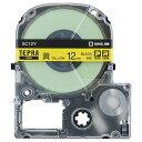 キングジム テプラ PRO テープカートリッジ パステル 12mm 黄/黒文字 SC12Y 1個