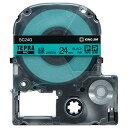 キングジム テプラ PRO テープカートリッジ パステル 24mm 緑/黒文字 SC24G 1個