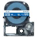 キングジム テプラ PRO テープカートリッジ ビビッド 18mm 青/白文字 SD18B 1個