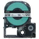 キングジム テプラ PRO テープカートリッジ 36mm 白/黒文字 SS36K 1個