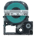 キングジム テプラ PRO テープカートリッジ 36mm 透明/黒文字 ST36K 1個