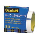 3M スコッチ はってはがせるテープ 811 大巻 18mm×30m 紙箱入 811−3−18 1巻