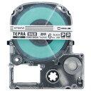 キングジム テプラ PRO テープカートリッジ 強粘着 6mm 透明/黒文字 ST6KW 1個