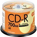 TANOSEE 三菱ケミカルメディア データ用CD-R 700MB 48倍速 ホワイトプリンタブル スピンドルケース SR80FP50T 1パック(50枚)