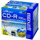 マクセル データ用CD-R 700MB ワイドプリンタブル 5mmスリムケース CDR700S.WP.S1P20S 1パック(20枚)