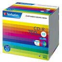 バーベイタム データ用CD-R 700MB ホワイトワイドプリンタブル 5mmスリムケース SR80SP20V1 1パック(20枚)