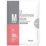 川西工業 ポリエチレン手袋 カタエンボス クリア M #2016 1パック(100枚)