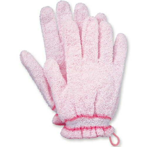 オカモト 浴用手袋 やさしい手 ピンク 1パック(2枚)