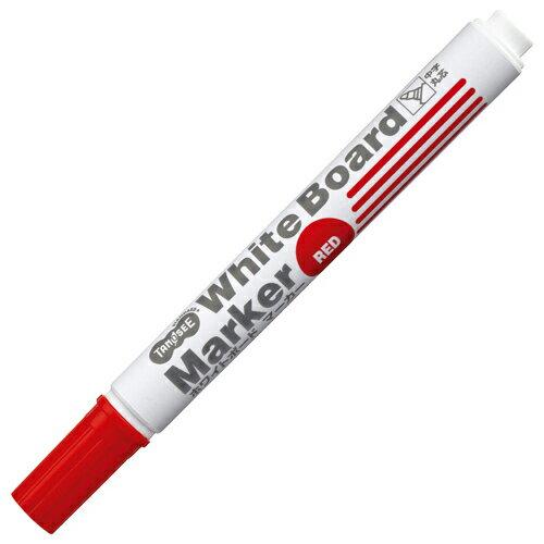 TANOSEE ホワイトボードマーカー 中字丸芯 赤 1本...:p-tano:10064938