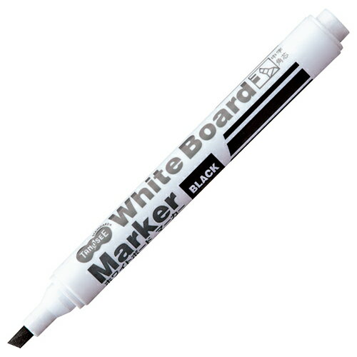 TANOSEE ホワイトボードマーカー 中字角芯 黒 1本...:p-tano:10081288
