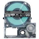 キングジム テプラ PRO テープカートリッジ マットラベル 9mm 透明/白文字 SB9TS 1個