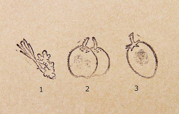 ハンコ 果物or野菜