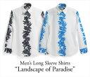 ショッピングアロハシャツ アロハシャツ メンズ(男性用)「New rize Hibiscus」全2色 長袖 XL3L 大きいサイズあり 沖縄結婚式にアロハシャツ
