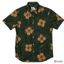 アロハシャツ メンズ(男性用)「Oriental Hibiscus」全2色 半袖 沖縄結婚式にアロハシャツ