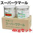 スーパーウマール 4kgセット(アトミクス/床用速硬化エポキシパテ/コンクリート床用) 02P27May16