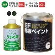 EF黒板ペイント0.9kg+ペイントうすめ液250mlセット(油性/ペンキ/黒板塗料/チョークボードペイント)