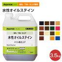 アクレックス 水性オイルステイン 3.5kg(和信化学工業/Aqurex/水性/屋内/木部用)