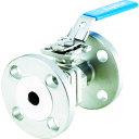 フジキン ステンレス鋼製1MPaフランジ式2ピースボール弁20A(3/4)(UBV21J10REALX)