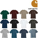 CARHARTT WORK WEAR POCKET TEE カーハート Tシャツ 半袖T 無地 定番 ポケットT K87
