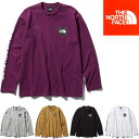 THE NORTH FACE L/S SQUARE LOGO SLEEVE TEE (5色展開) 【正規品】 ノースフェイス ロングスリーブスクエアロゴスリーブティー ロンT ロングスリーブ 長袖