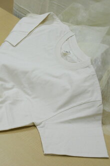 Organic cotton basic t-shirt (off-white white)