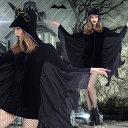 オーフォックス(Oxfox)ハロウィン衣装 仮装 ダーク系 コウモリ フード付き 吸血鬼 魔女 ホラー レディース コスチューム なりきり変身